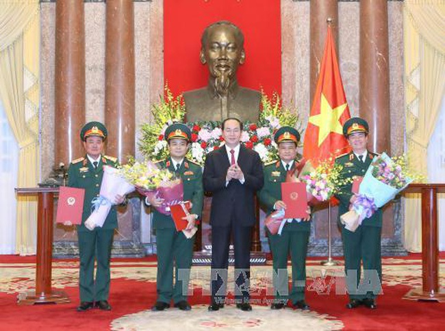 Thăng quân hàm cấp Thượng tướng cho 4 sĩ quan Quân đội