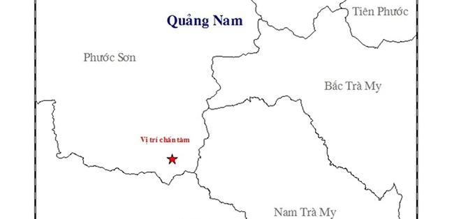Lại xảy ra động đất tại Quảng Nam