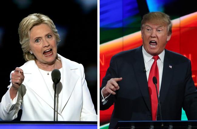 """Bà Clinton tạm dẫn trước ông Donald Trump trước vòng """"đối đầu trực tiếp"""""""