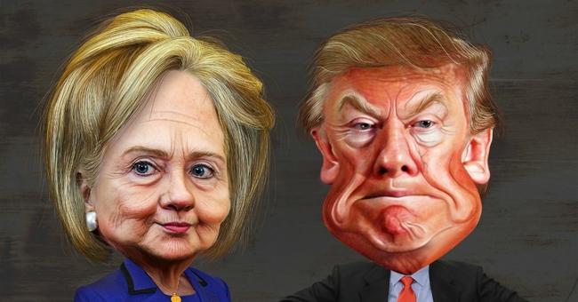 """Đấu khẩu gay gắt giữa Trump và Clinton: Những màn công kích """"bẩn thỉu"""""""