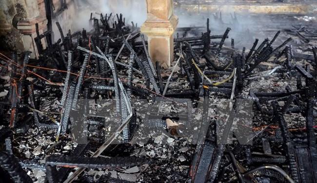Cháy lớn thiêu rụi Nhà văn hóa Thiếu nhi tỉnh Điện Biên