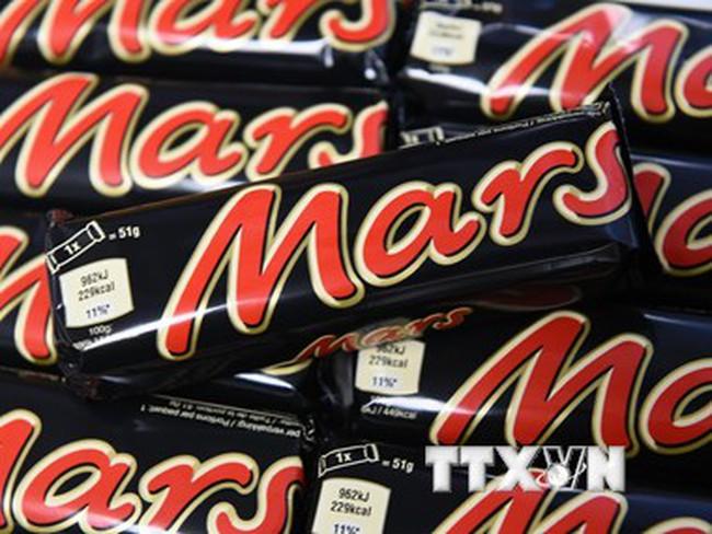 Mars thu hồi tất cả sản phẩm kẹo chocolate trên toàn cầu
