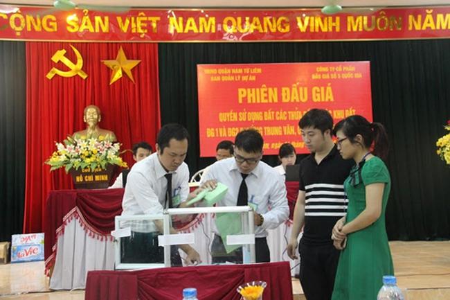 Đấu giá thành công 9 lô đất thuộc khu ĐG1, ĐG2 phường Trung Văn