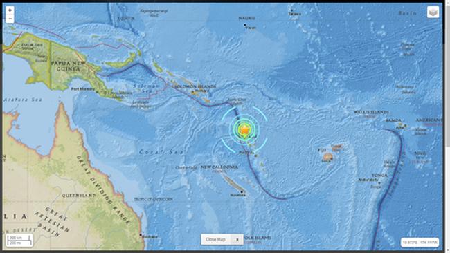 Động đất 7,2 độ richter ở nam Thái Bình Dương, cảnh báo sóng thần