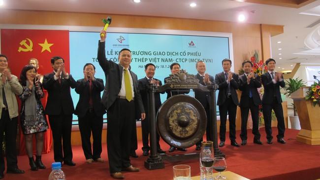 Cổ phiếu VNSteel chính thức giao dịch tại Upcom