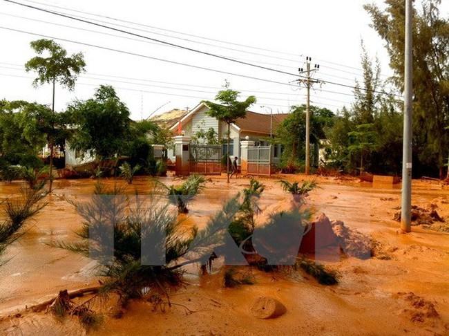 Tạm đình chỉ sản xuất của công ty khai thác titan ở Bình Thuận