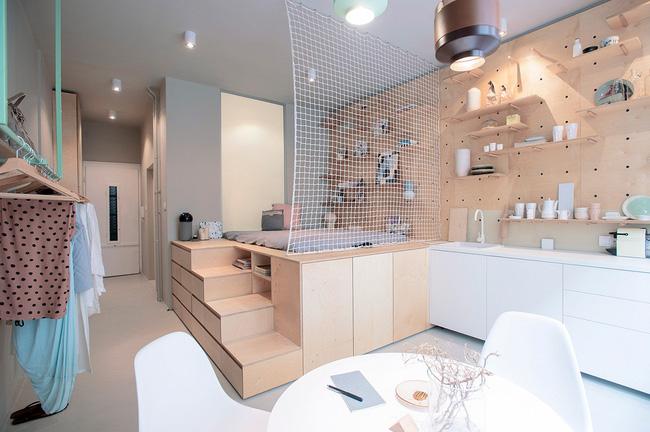 Xiêu lòng trước căn hộ 17m² có thiết kế thông minh và rất thân thiện