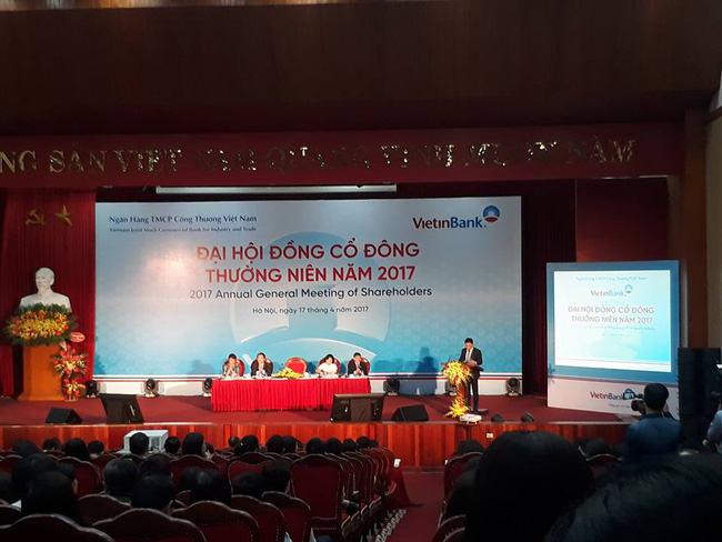 ĐHĐCĐ VietinBank: Kế hoạch lợi nhuận 2017 đạt 8.800 tỷ đồng, cổ tức tối đa 7%