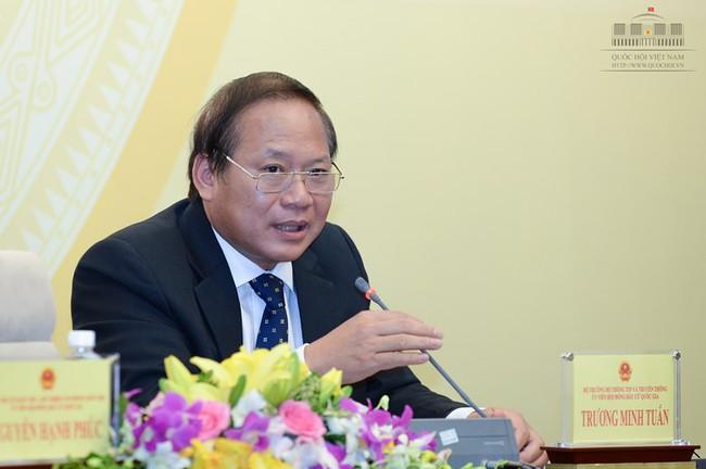 """Bộ trưởng Trương Minh Tuấn: """"Kho số là do Bộ cấp, phát tán là do nhà mạng, vì vậy phải truy trách nhiệm cho nhà mạng"""""""