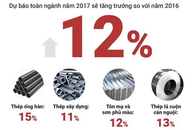 [Infographic] Dự báo ngành thép 2017
