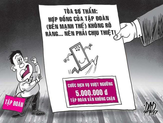 Kiện đòi hơn 1 tỉ đồng cước điện thoại