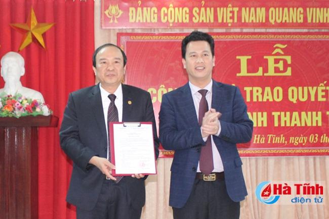 Hà Tĩnh có Chánh Thanh tra mới