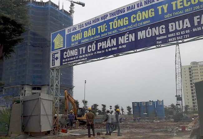 Chung cư TECCO Tower Thanh Trì chưa được cấp phép vẫn rao bán tràn lan