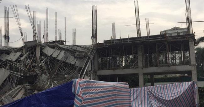 Hà Nội: Sập công trình đang thi công trường mầm non ở Mỹ Đình