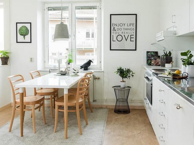 """""""Hô biến"""" căn bếp thành không gian tuyệt đẹp theo phong cách Scandinavia"""