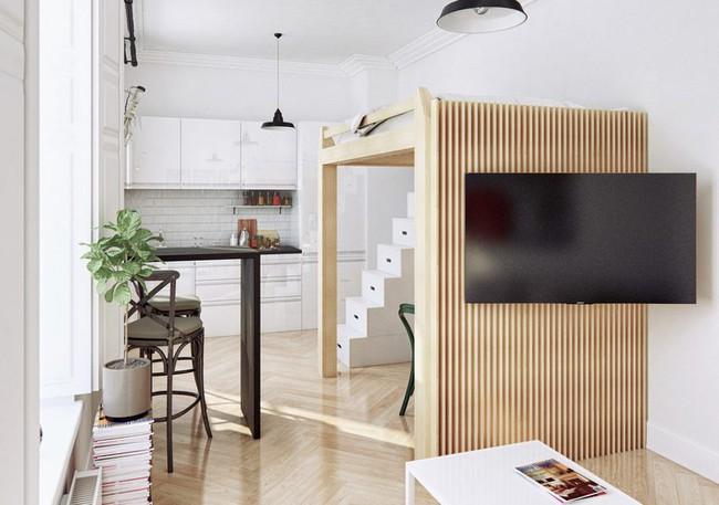Thiết kế căn hộ 30m2 tuyệt đẹp cho người độc thân