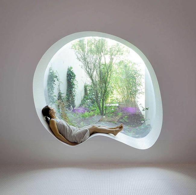 Nhà đẹp lộng lẫy với những ô cửa sổ hình tròn tuyệt đẹp