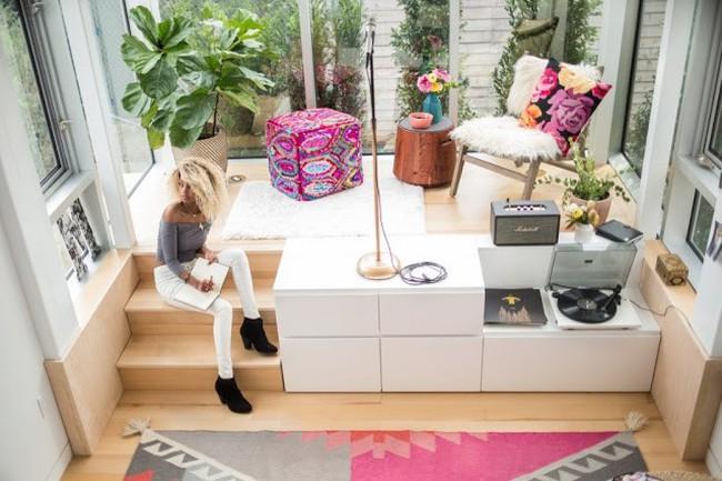 """Ngôi nhà nhỏ nhưng thiết kế nội thất """"chất"""" đến không ngờ của cô nàng độc thân"""