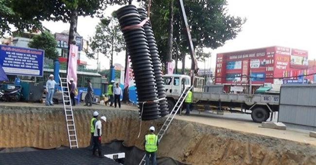 Cận cảnh hồ chống ngập thông minh đầu tiên ở Sài Gòn