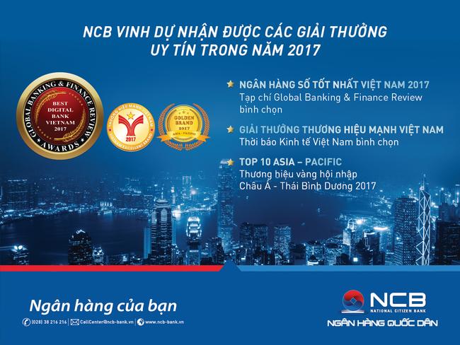 NCB nhận 2 giải thưởng quốc tế trong lĩnh vực  ngân hàng