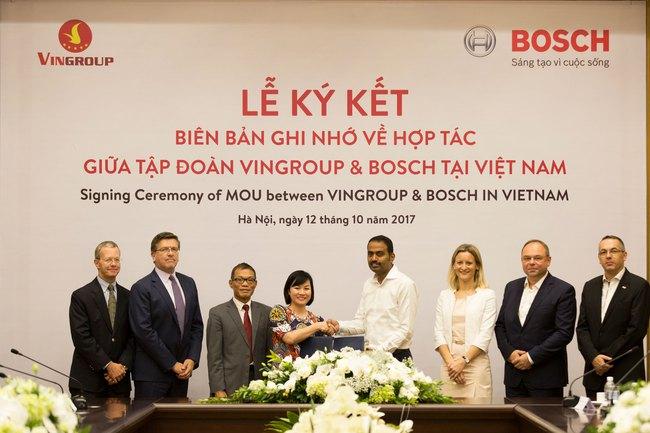 Vinfast chính thức ký hợp tác toàn diện với Bosch - tập đoàn linh kiện ô tô lớn nhất thế giới