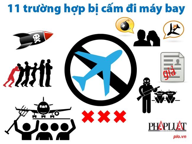 [Inphographic]: 11 trường hợp bị cấm đi máy bay
