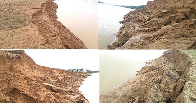 """Video: Hàng trăm nghìn mét đất bị sông Lam """"nuốt chửng"""" từng ngày"""