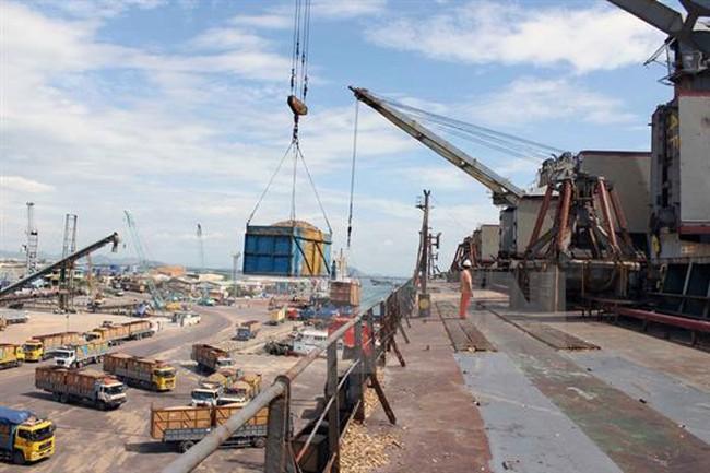Gỗ xuất khẩu tắc cứng tại cảng Quy Nhơn - ảnh 1