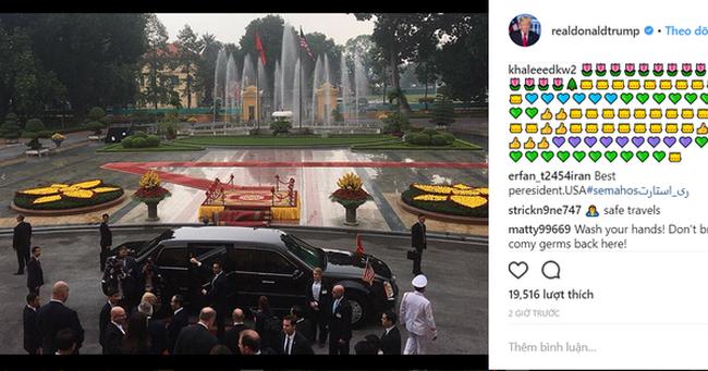Tài khoản Instagram của tổng thống Donald J. Trump cập nhật hình ảnh Phủ chủ tịch vào sáng ngày hôm nay