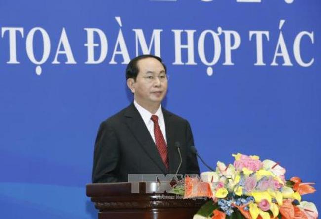 Chủ tịch nước Trần Đại Quang: Thúc đẩy thương mại với Trung Quốc lên 100 tỷ USD