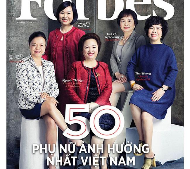 Danh sách 50 người phụ nữ ảnh hưởng nhất Việt Nam