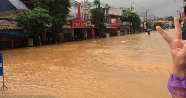 Thái Nguyên: Nhiều nơi ngập lụt nghiêm trọng do ảnh hưởng của bão số 6