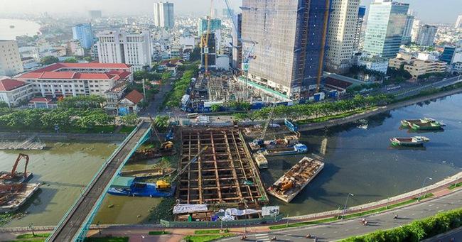 Nhìn từ trên cao công trình chống ngập 10.000 tỷ đang dần thành hình ở Sài Gòn