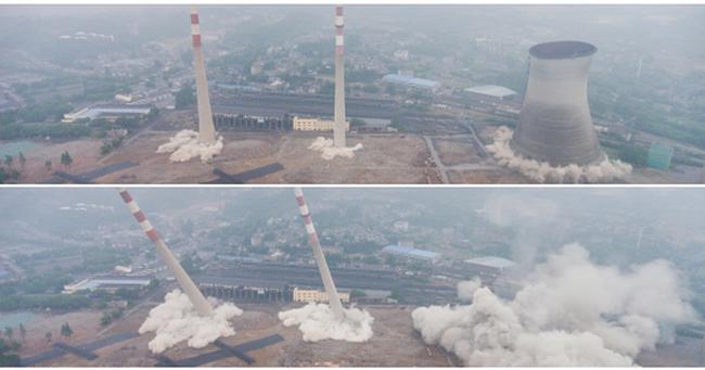 Trung Quốc phá dỡ nhà máy nhiệt điện, cả ngọn tháp cao bằng tòa nhà 60 tầng đổ sập trong vài giây ngắn ngủi