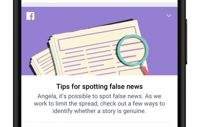 Facebook cố dạy người dùng cách phân biệt tin tức giả mạo