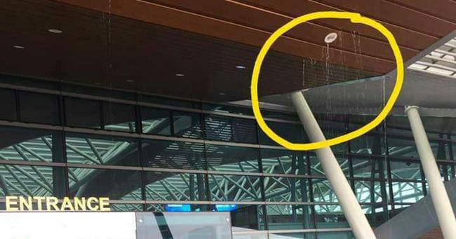 Nhà ga sân bay quốc tế Đà Nẵng bị dột nước
