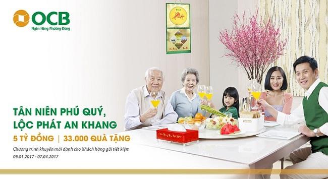 OCB chi hơn 5 tỷ đồng dành tặng khách hàng đón Xuân Đinh Dậu