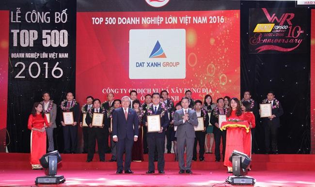 Đất Xanh vào Top 10 Nhà Phát Triển Bất Động Sản Lớn Nhất Việt Nam VNR500 năm 2016