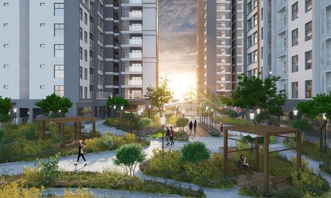 Mở bán căn hộ giá 2,2 tỷ nhân dịp cất nóc dự án 4 mặt tiền