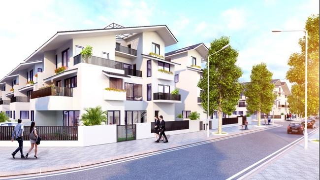 Ngỡ ngàng với thiết kế độc đáo của biệt thự song lập Iris Homes