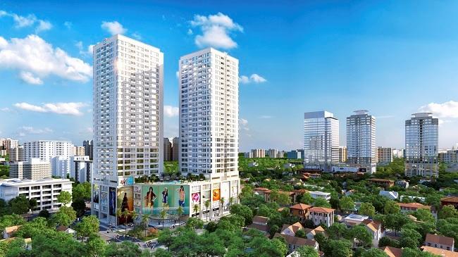 Xuất hiện toà tháp đôi căn hộ cao cấp mới nổi trung tâm quận Thanh Xuân