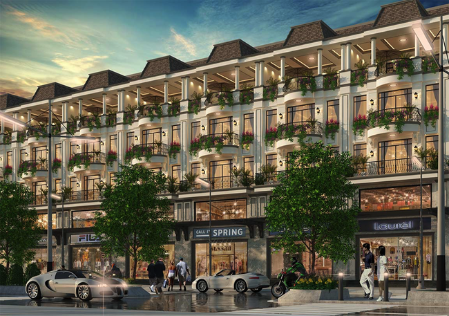 Khu đô thị Vạn Phúc gây ấn tượng mạnh với nhà phố thương mại mặt tiền 7m