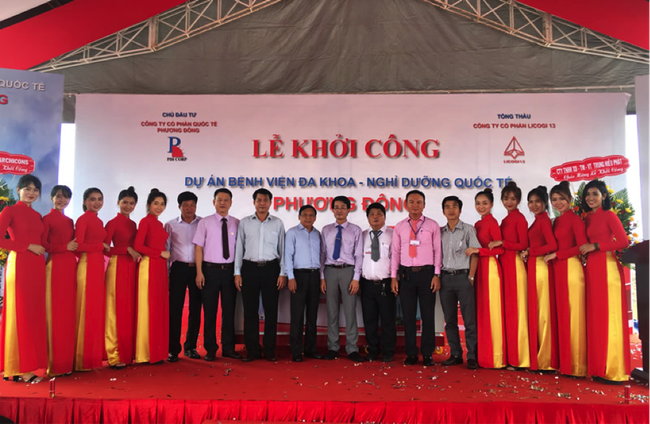 Licogi 13 (LIG) khởi công xây dựng xây khách sạn bệnh viện trị giá gần 1.150 tỷ đồng