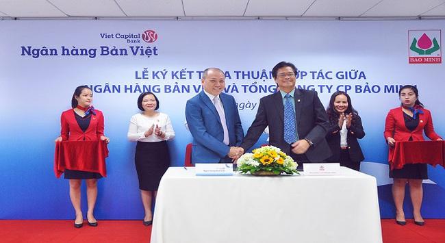 Ngân hàng Bản Việt cùng Tổng công ty CP Bảo Minh ký kết thỏa thuận hợp tác toàn diện