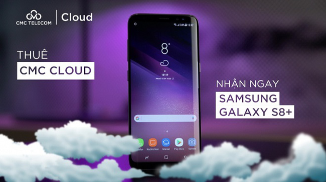 Thuê CMC Cloud nhận ngay Samsung Galaxy S8+
