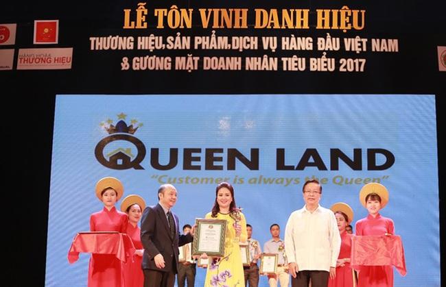"""Queen Land giành """"cú đúp"""" giải thưởng tôn vinh Thương hiệu doanh nghiệp năm 2017"""