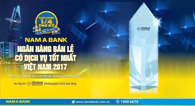 Nam A Bank được Global Business Outlook trao giải Ngân hàng bán lẻ có dịch vụ tốt nhất Việt Nam 2017