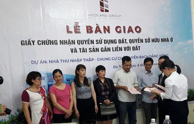 Chung cư Vicoland Đà Nẵng tiếp tục bàn giao sổ hồng cho cư dân