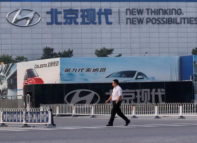 Nhà máy của Hyundai đóng cửa do căng thẳng Trung Quốc-Hàn Quốc