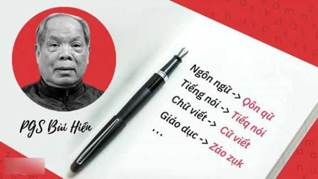 Đề xuất cải tiến tiếng Việt của PGS. TS Bùi Hiền chỉ là ý tưởng cá nhân, đừng vội 'ném đá'